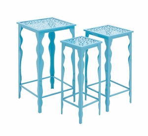 The Divine Set of 3 Metal Plant Stand by Woodland Import