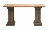 The Dutiful Wood Console Table by Woodland Import