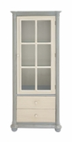 The Elegant Wood Glass Cabinet With Drawer by Woodland Import
