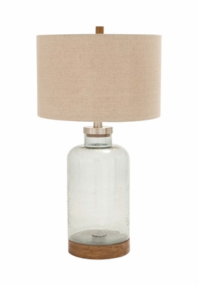 The Exceptional Glass Metal Table Lamp by Woodland Import