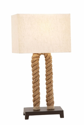 The Extraordinary Metal Rope Pier Table Lamp by Woodland Import