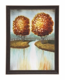 The Fiery Wood Framed Canvas Art by Woodland Import