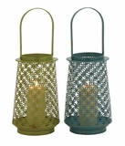 The Fine Metal Lantern 2 Assorted by Woodland Import