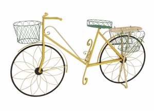 The Funky Metal Bicycle Plant Stand - 28947 by Benzara