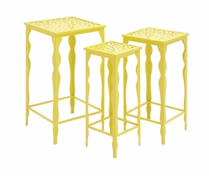 The Funky Set of 3 Metal Plant Stand by Woodland Import