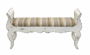 The Funky Wood Fabric Bench by Woodland Import