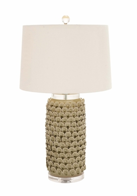 The Gorgeous Ceramic Acrylic Table Lamp by Woodland Import