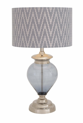 The Gorgeous Glass Metal Table Lamp by Woodland Import