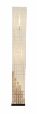 The Gorgeous Metal Capiz Tower Floor Lamp by Woodland Import