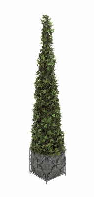 The Gorgeous PVC Ivory Topiary Metal Plant by Woodland Import