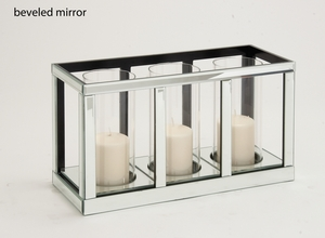 The Grand Wood Mirror Candle Holder by Woodland Import