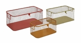 The Handy Set Of 3 Metal Storage Box by Woodland Import