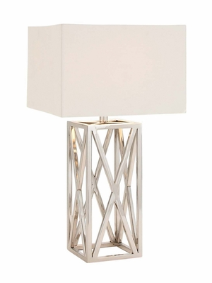 The Heartthrob Stainless Steel Table Lamp by Woodland Import