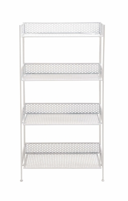 The Heavenly Metal Baker Rack White by Woodland Import
