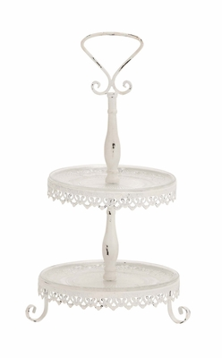 The Heavenly Metal Glass 2 Tier Tray by Woodland Import