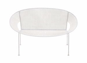 The Heavenly Metal White Garden Bench by Woodland Import