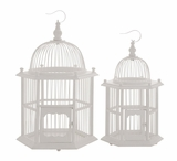 The Heavenly Set of 2 Wood Birdcage by Woodland Import