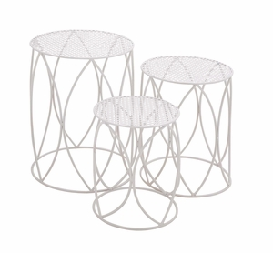 The Heavenly Set Of 3 Metal Plant Stand by Woodland Import