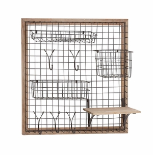 The Ingenious Wood Metal Wall Strong Rack by Woodland Import