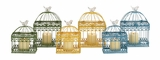 The Intricate Set of 2 Metal B/Cages 3 Assorted by Woodland Import