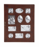 The Joyous Wood Glass Wall Photo Cabinet by Woodland Import