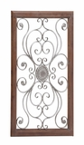 The Large Metal Wood Wall Plaque by Woodland Import