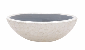 The Larger Than Life Capiz Bowl - 50148 by Benzara