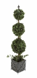 The Lifelike PVC Topiary Metal Planter by Woodland Import