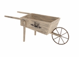 The Lifelike Wood Metal Handcart by Woodland Import