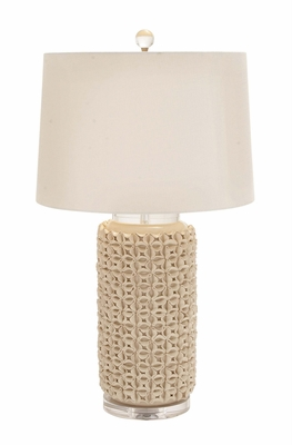 The Lovely Ceramic Acrylic Table Lamp by Woodland Import