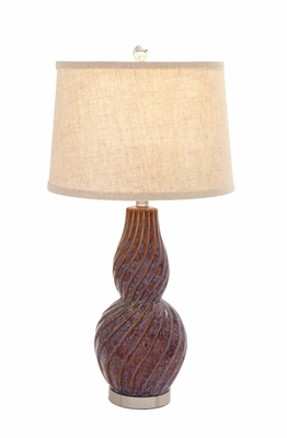 The Lovely Ceramic Metal Table Lamp by Woodland Import