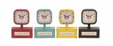 The Lovely Metal Desk Clock 4 Assorted by Woodland Import