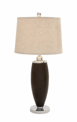 The Lovely Polystone Metal Table Lamp by Woodland Import