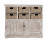 The Lovely Wood 6 Basket Cabinet by Woodland Import
