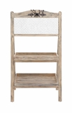 The Lovely Wood Metal Floor Shelf by Woodland Import