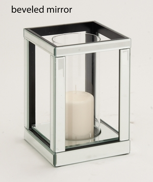 The Lovely Wood Mirror Candle Holder - 87238 by Benzara