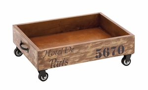 The Lovely Wood Trolley Tray by Woodland Import