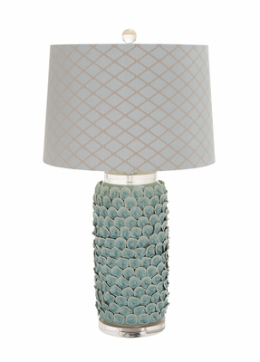The Matchless Ceramic Acrylic Table Lamp by Woodland Import
