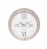 The Modern Stainless Steel Wall Clock by Woodland Import