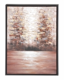 The Mysterious Wood Framed Canvas Art by Woodland Import
