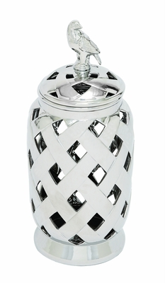 The Niao (Bird) Silver Jar by Woodland Import