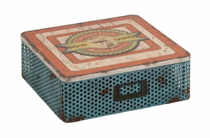 The Nostalgic Metal Wood Box by Woodland Import