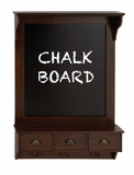 The Nostalgic Wood Chalkboard Shelf by Woodland Import