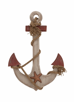 The Nostalgic Wood Rope Anchor - 78740 by Benzara