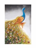 The Peacock Canvas Art by Woodland Import