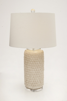 The Peasant Ceramic Crystal Table Lamp by Woodland Import