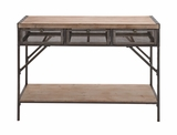 The Perfect Wood Metal Console by Woodland Import