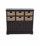 The Posh Wood 6 Basket Cabinet by Woodland Import