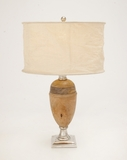 The Pretty Aluminum Wood Table Lamp by Woodland Import