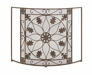 The Protective Metal Fire screen by Woodland Import